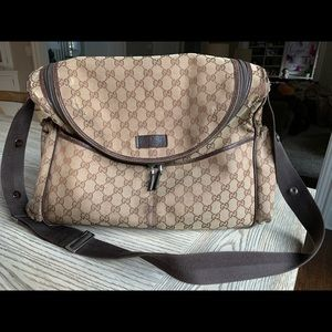 Used Authentic Gucci Diaper Bag